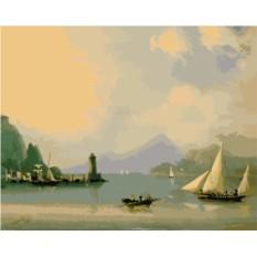 Картина по номерам «Морской пролив с маяком» И. Айвазовского