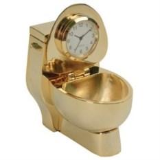 Настольные часы «Золотой унитаз»