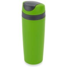 Зеленая термокружка из пластика Лайт 470 мл