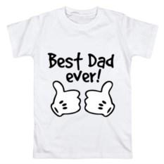 Мужская футболка из хлопка Самый лучший папа