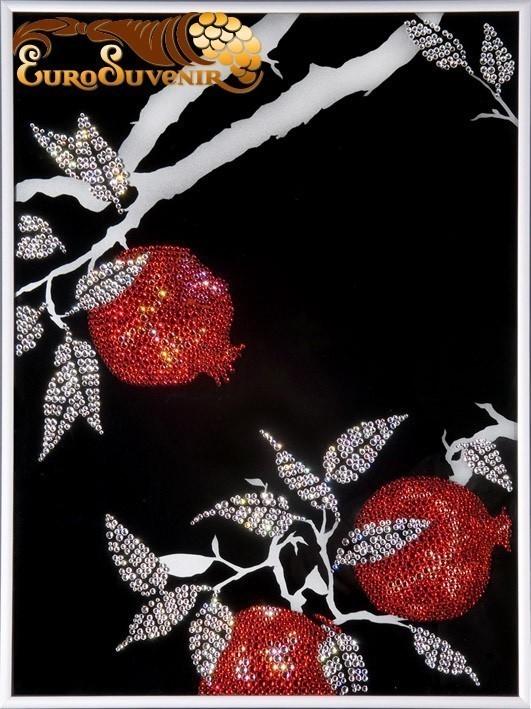 Картина Swarovski Заросли граната, 2170 кристаллов, 30х40 см