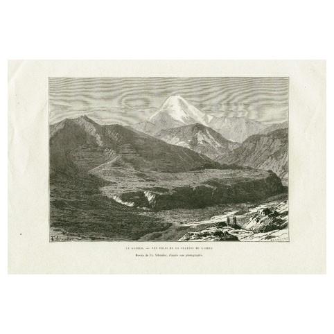 Гравюра «Вид на гору Казбек»