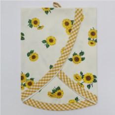 Белое полотенце Old Florence Girasoli с желтым кантом