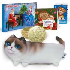 Новогодний подарочный набор с пеналом Кошечка
