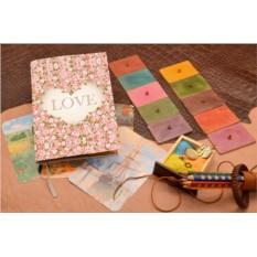 Ежедневник с принтом Цветочная любовь