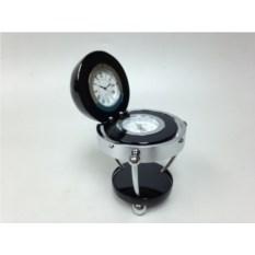 Настольный прибор: часы и компас, размер 12.6х12.6х16 см
