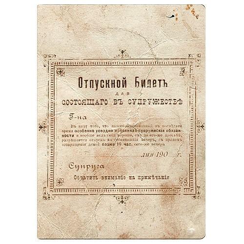 Обложка для паспорта Отпускной Билет