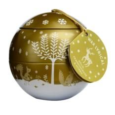 Ароматическая свеча-шар Зимний лес в металле