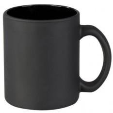 Черная матовая кружка