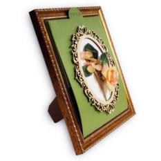 Фреймкард – открытка в рамке с 3D букетом