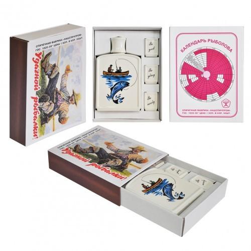 Подарочный набор в виде спичечного коробка Рыбак