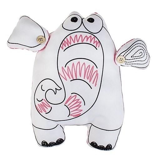 Мягконабивная игрушка Розовый слон