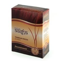 Травяная краска для волос на основе хны (каштановая)