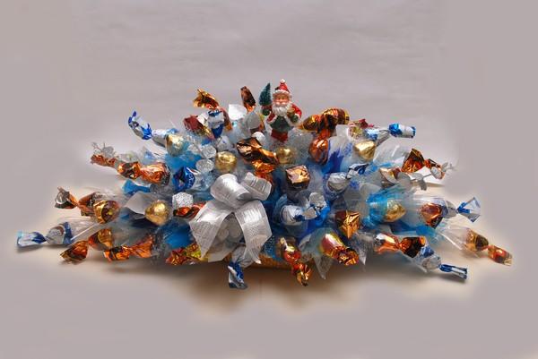 Букет из конфет Санта клаус