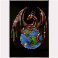 Картина Swarovski Дракон-властелин мира