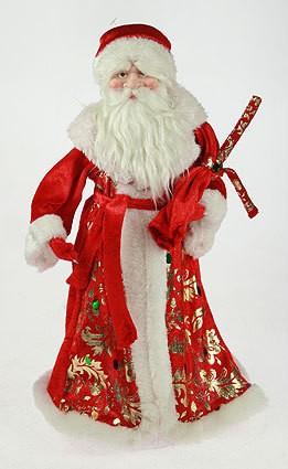 Фигурка интерьерная Дед Мороз в красной шубе с мешком