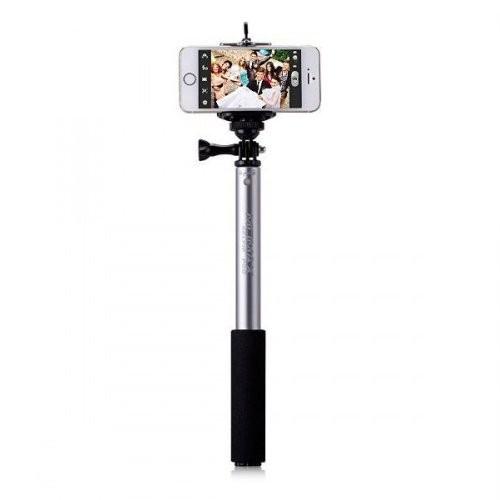 Селфи-монопод MOMAX SelfiFit KMS1 Silver с пультом Bluetooth