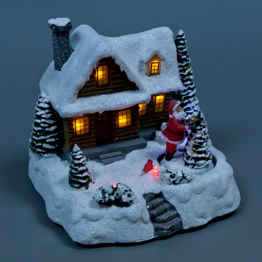 Композиция «Дед Мороз у дома»