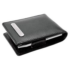Кожаный блокнот с ручкой, фоторамкой и зажимом