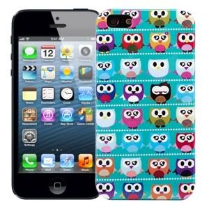 Чехол для iPhone 5/5s Small owls, бирюзовый