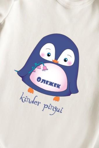 Боди для малыша с текстом Малыш пингвин, размер 62