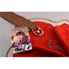 Обложка для паспорта / автодокументов Фиолетовый букет