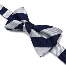 Сине-белый галстук бабочка в широкую полоску Laura Biagiotti
