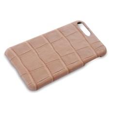 Бежевый чехол из кожи крокодила на Iphone 7 plus
