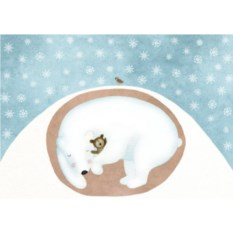 Открытка Мишка в спячке