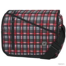 Черно-красная в клетку сумка Polar School