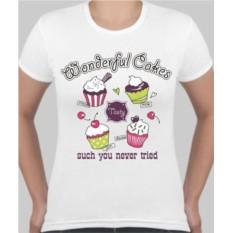 Женская футболка Wonderful cakes