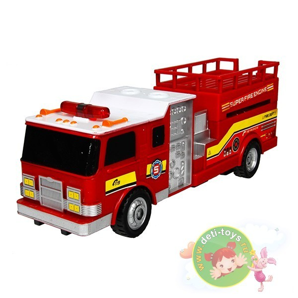 Пожарная машина с подъемной площадкой на радиоуправлении