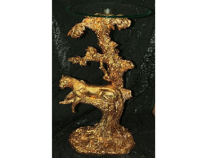Напольная декоративная композиция Леопард на дереве