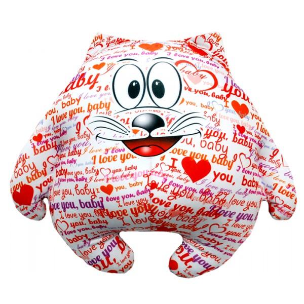 Подушка-игрушка Котик I love you