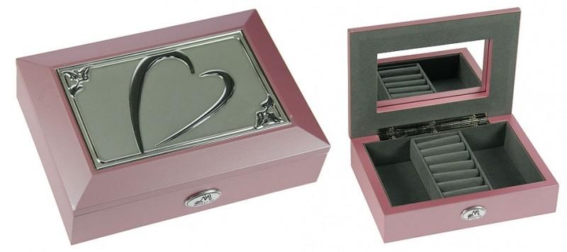 Розовая ювелирная шкатулка Moretto