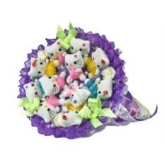 Букет из игрушек Хеллоу Китти (цвет: фиолетовый)