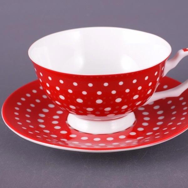 Чайный набор на 6 персон Мелкий горошек