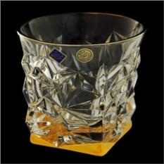 Набор стаканов с цветным дном для виски Glacier