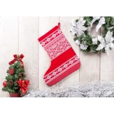 Носок для подарков Зимняя сказка (цвет — красный)