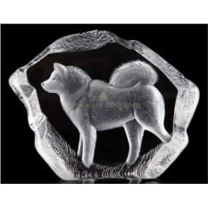 Большая стеклянная скульптура Собака