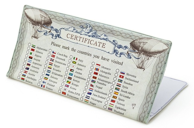 Конверт для авиабилетов Сертификат на путешествия