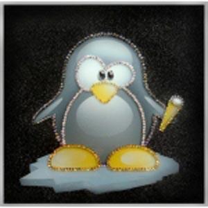 Картина из кристаллов «Пингвиненок Лоло»