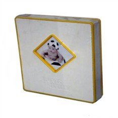 Кожаный фотоальбом с магнитными листами Love baby
