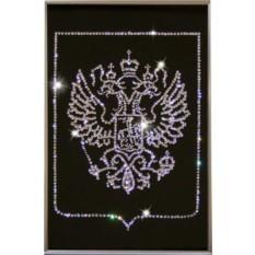 Картина с кристаллами Сваровски Герб России