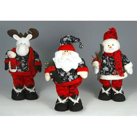 Санта, Снеговик, Олень в стиле Боско стоящие