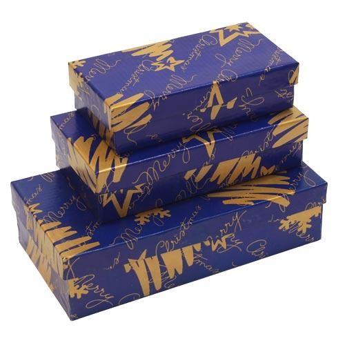 Коробка подарочная в ассортименте (синяя)