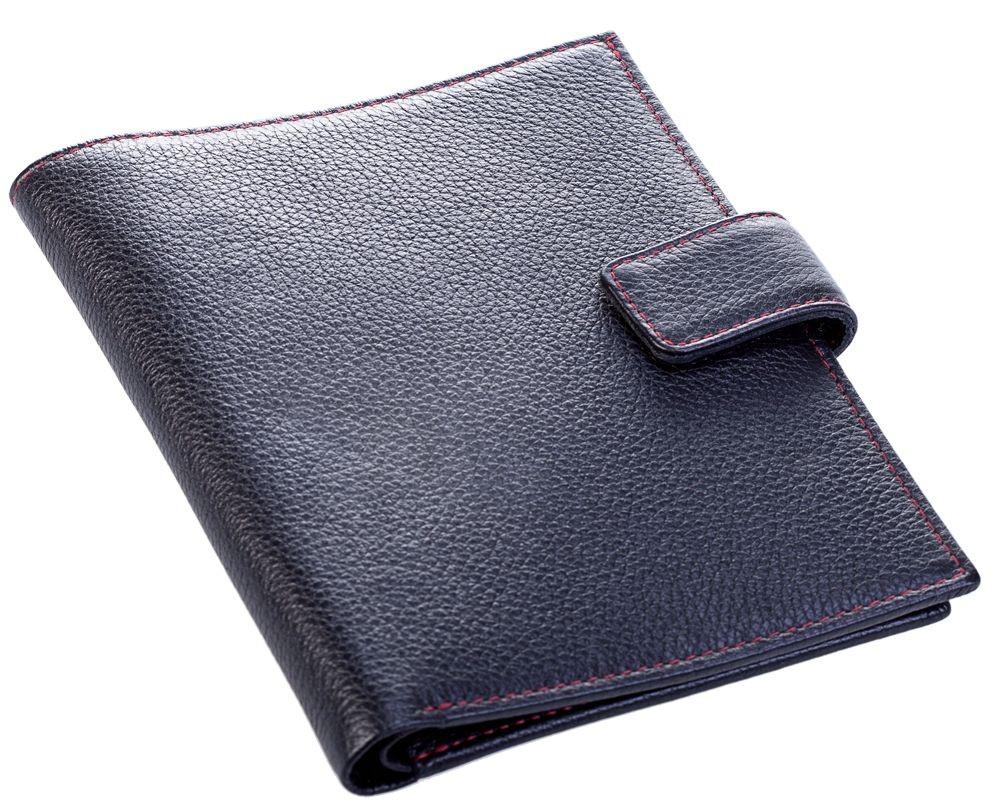 Бумажник водителя Viaggi, черный с красной отделкой