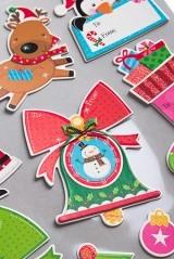 Набор новогодних наклеек Дед Мороз с оленями