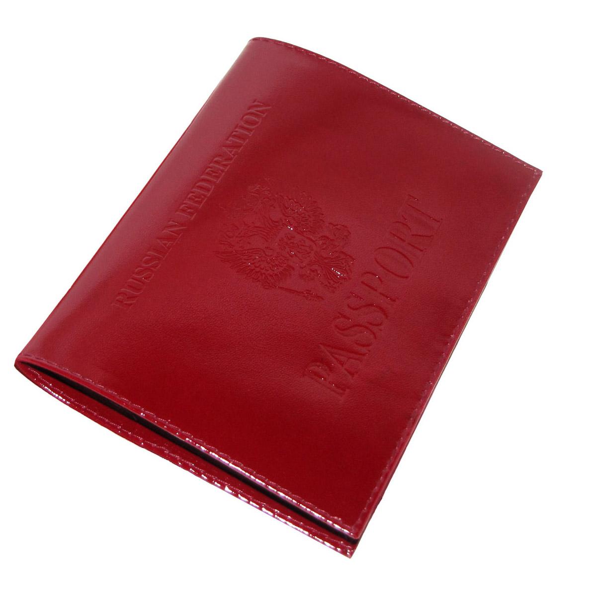 Красная обложка PASSPORT с гербов РФ