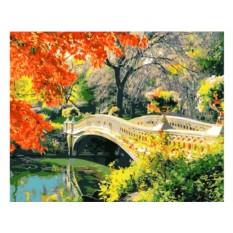 Картины по номерам «Осень в Центральном парке. Швейцария»